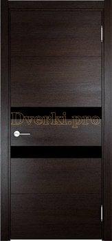3559, Дверь Турин 11 дуб шоколад (CPL), остекленная, 27327, 6 190.00 р., 3559-01, , Двери экошпон Премиум
