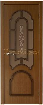 3241, Дверь Соната орех, остекленная, 15749, 6 050.00 р., 3241-01, , Двери шпон Стандарт