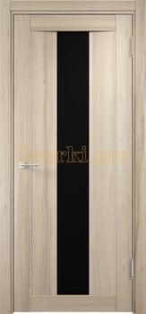 1354, Дверь Сицилия 02 капучино, остекленная, черный триплекс, 18570, 9 660.00 р., 1354-01, , Двери экошпон Премиум
