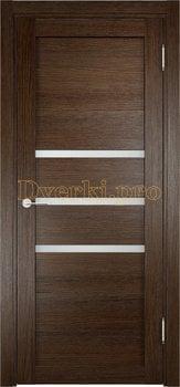 2020, Дверь Мюнхен 01 дуб табак, остекленная, 20945, 3 100.00 р., 2020-01, , Двери Eldorf экошпон с 3D покрытием
