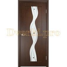 Дверь Вираж венге, остекленная