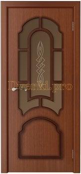 3234, Дверь Соната макоре, остекленная, 15779, 6 235.00 р., 3234-01, , Двери шпон Стандарт