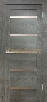 3616, Дверь Бавария 15 3Д-Люкс дуб эдисон серый, остекленная, 27530, 3 065.00 р., 3616-01, , Двери экошпон Лайт