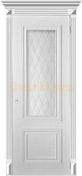 4042, Дверь Эмма 1 белая эмаль, остекленная, 29959, 11 340.00 р., 4042-01, , Эмаль, серия Классика