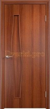 795, Дверь Тип С-10 итальянский орех, глухая, 12910, 1 710.00 р., 795-01, , Двери в финиш-пленке
