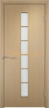 906, Дверь Тип С-12 беленый дуб, остекленная, 29525, 2 320.00 р., 906-01, , Двери в финиш-пленке