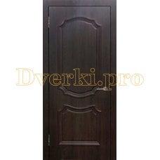 Дверь Асти (объемный багет) шоколад, глухая