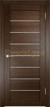 2084, Дверь Мюнхен 04 дуб табак, остекленная, 21009, 3 100.00 р., 2084-01, , Двери Eldorf экошпон с 3D покрытием