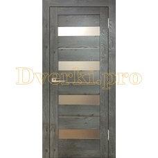 Дверь Бавария 02 3Д-Люкс дуб эдисон серый, остекленная