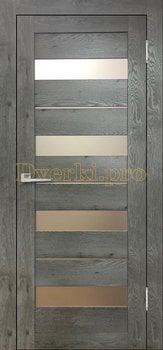 3584, Дверь Бавария 02 3Д-Люкс дуб эдисон серый, остекленная, 27486, 3 065.00 р., 3584-01, , Двери экошпон Лайт