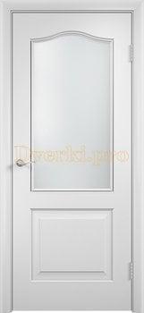 2227, Дверь Классика белая, остекленная, 21356, 4 140.00 р., 2227-01, , Двери облицованные ПВХ