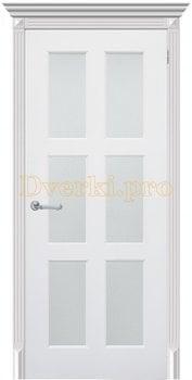 3303, Дверь Челси 08 белая эмаль, остекленная, 25899, 7 800.00 р., 3303-01, , Эмаль, серия Классика