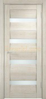 1488, Дверь Сицилия 12 беленый дуб мелинга, остекленная, белый триплекс, 18957, 9 660.00 р., 1488-01, , Двери экошпон Премиум