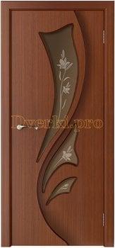 3223, Дверь Лидия макоре, остекленная, 15478, 6 050.00 р., 3223-01, , Двери шпон Стандарт