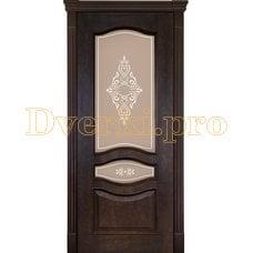 Дверь Алина-2 кофе, остекленная