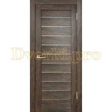 Дверь Бавария 04 ПВХ дуб шале корица, остекленная