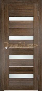 1489, Дверь Сицилия 12 венге мелинга, остекленная, белый триплекс, 18958, 9 660.00 р., 1489-01, , Двери экошпон Премиум