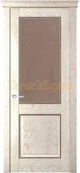 3716, Дверь Прайм капучино, остекленная, 27775, 9 923.00 р., 3716-01, , Двери шпон Комфорт