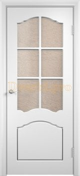 495, Дверь Лидия белая, остекленная, 11602, 4 170.00 р., 495-01, , Двери облицованные ПВХ