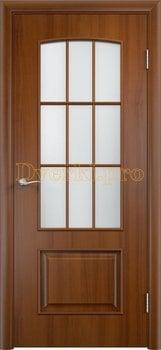 923, Дверь Тип С-26 лесной орех, остекленная, 14491, 3 920.00 р., 923-01, , Двери в финиш-пленке