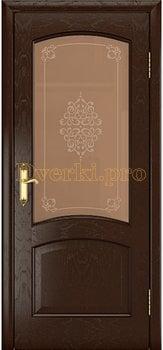 4046, Дверь Ростра 2 дуб коньячный, остекленная, 29968, 10 043.00 р., 4046-01, , Двери шпон Комфорт