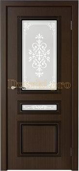 3245, Дверь Стиль венге, остекленная, 20220, 6 180.00 р., 3245-01, , Двери шпон Стандарт