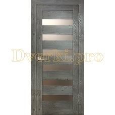 Дверь Бавария 03 3Д-Люкс дуб эдисон серый, остекленная