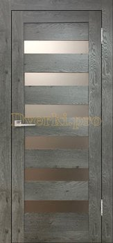 3592, Дверь Бавария 03 3Д-Люкс дуб эдисон серый, остекленная, 27497, 3 065.00 р., 3592-01, , Двери экошпон Лайт