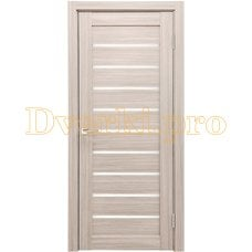 Дверь X-2 лиственница кремовая, остекленная