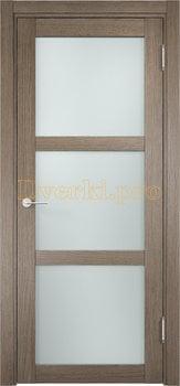 1981, Дверь Баден 02 дуб дымчатый, остекленная, 20906, 3 415.00 р., 1981-01, , Двери Eldorf экошпон с 3D покрытием