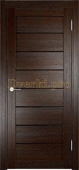 2643, Дверь Мюнхен 04 (Лакобель) дуб темный, остекленная, 22086, 3 900.00 р., 2643-01, , Двери Eldorf экошпон с 3D покрытием