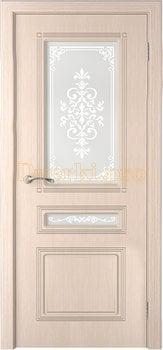 3244, Дверь Стиль беленый дуб, остекленная, 20232, 6 745.00 р., 3244-01, , Двери шпон Стандарт