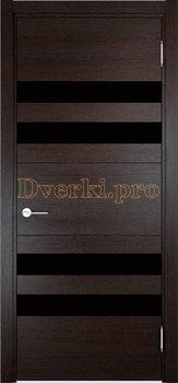 3555, Дверь Турин 10 дуб шоколад (CPL), остекленная, 27323, 7 470.00 р., 3555-01, , Двери экошпон Премиум