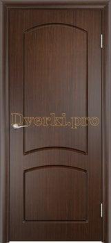 424, Дверь Кэрол венге, глухая, 11531, 4 010.00 р., 424-01, , Двери облицованные ПВХ