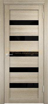 2618, Дверь Мюнхен 03 (Лакобель) дуб дымчатый, остекленная, 22061, 3 900.00 р., 2618-01, , Двери Eldorf экошпон с 3D покрытием
