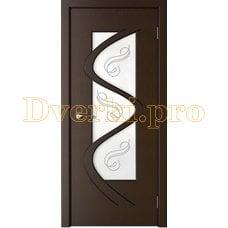 Дверь Вега венге, остекленная
