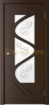 3202, Дверь Вега венге, остекленная, 25689, 6 280.00 р., 3202-01, , Двери шпон Стандарт