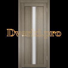Дверь ЭКО 01 вишня малага, остекленная