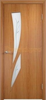 651, Дверь Тип С-02 миланский орех, остекленная с фьюзингом, 12099, 2 310.00 р., 651-01, , Двери в финиш-пленке