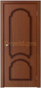 1122, Дверь Соната макоре, глухая, 15752, 6 135.00 р., 1122-01, , Двери шпон Стандарт
