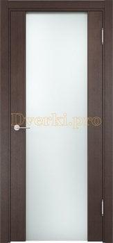 1154, Дверь Сан-Ремо 01 вишня малага, остекленная, черный триплекс, 17148, 10 815.00 р., 1154-01, , Двери экошпон Премиум