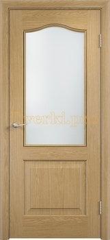 2222, Дверь Классика беленый дуб, остекленная, 21351, 4 140.00 р., 2222-01, , Двери облицованные ПВХ