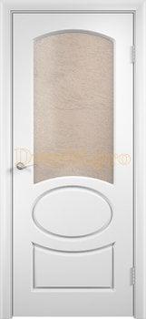 576, Дверь Неаполь белая, остекленная, 11683, 4 705.00 р., 576-01, , Двери облицованные ПВХ
