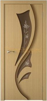 3227, Дверь Лидия дуб, остекленная, 15451, 6 050.00 р., 3227-01, , Двери шпон Стандарт