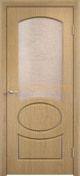 572, Дверь Неаполь дуб, остекленная, 11679, 4 705.00 р., 572-01, , Двери облицованные ПВХ