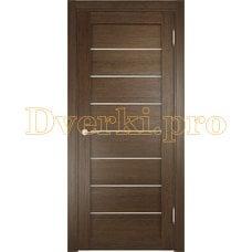 Дверь ЭКО 04 венге мелинга, остекленная