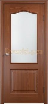 2224, Дверь Классика итальянский орех, остекленная, 21353, 4 140.00 р., 2224-01, , Двери облицованные ПВХ