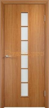 886, Дверь Тип С-12 миланский орех, остекленная, 13308, 2 070.00 р., 886-01, , Двери в финиш-пленке
