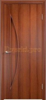 724, Дверь Тип С-06 итальянский орех, глухое, 12475, 1 710.00 р., 724-01, , Двери в финиш-пленке