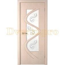 Дверь Вега беленый дуб, остекленная
